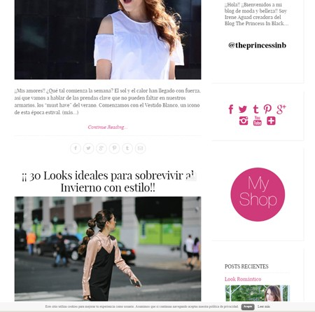 Desarrollo de sitio web para The Princess in Black